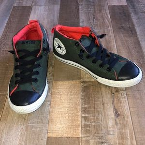 Converse Chucks Army Green and Orange